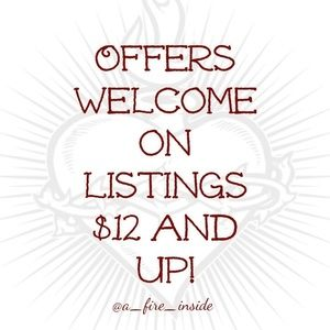 Other - Offers welcome on listings $12+! EXCEPT $ FIRM